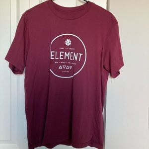 Element authentic maroon t shirt